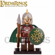 The Lord of the Rings Hobbit Rohan Eomer with Shield Theoden Grima Aragorn Boromir minifig DIY Building Blocks Kids Xmas Toy(China)