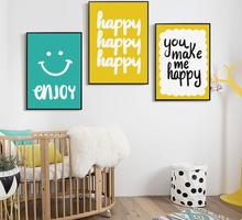 Unframed Simple Abstract English Phrase Heart Canvas Art Painting Print Poster Picture Wall Kids Room Home Decorative Mural