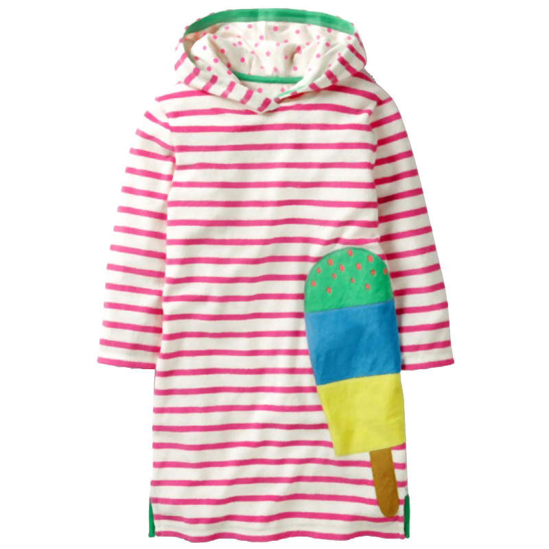 Children Clothing Dress Autumn Winter Girls Dresses Long Sleeve Casual Stripe Princess Dress For Girls Clothes Kid Clothes 2-10Y