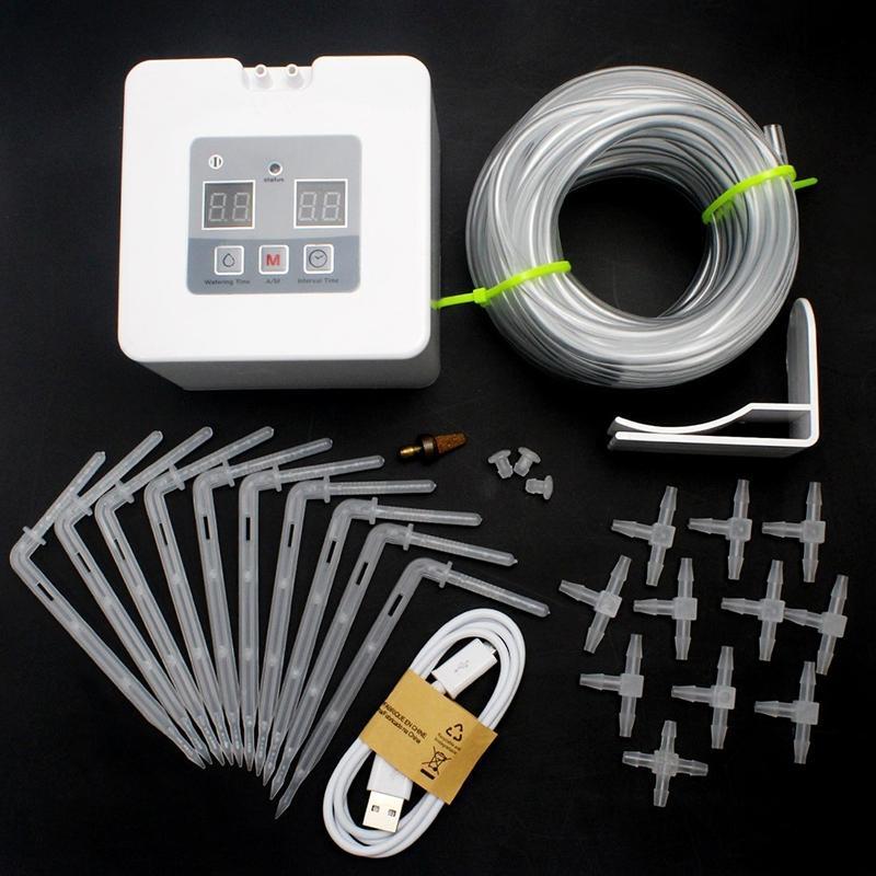 AsyPets DIY Micro Automatische Tropf Bewässerung Kit Selbst Bewässerung System mit 30-Tag Timer und USB Lade-25