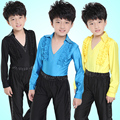 Boys Latin dance performance clothing new children 's Latin dance performance clothing boys Latin clothing long - sleeved autumn