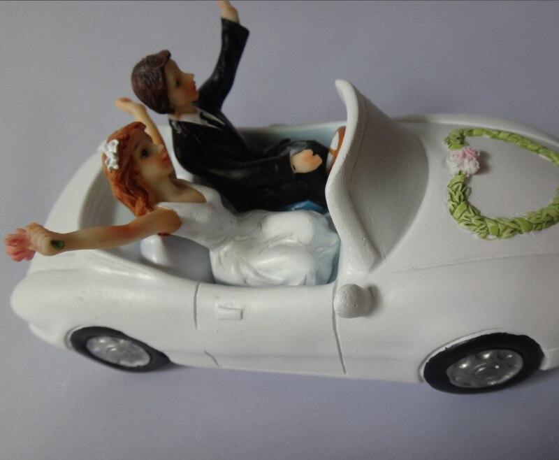 Hochzeit Auto Brautigam Braut Figurine Harz Hochzeitstorte Topper