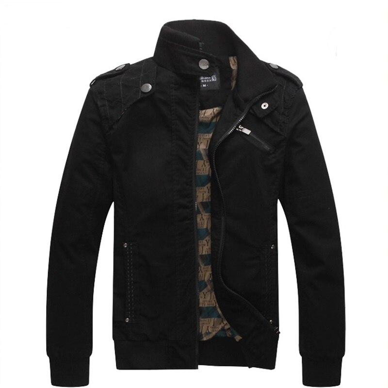 Image 2 - Мужская куртка бомбер, мужская куртка в стиле милитари на осень и зиму, 2019Куртки