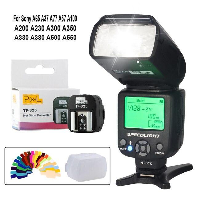 INSEESI IN560IV PLUS flash inalámbrico speedlite y Pixel TF 325 Adaptador de zapata para Sony A65 A77 A57 A100 A200 A300 A350 A380 A500