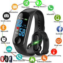 M3 Smart Bracelet Blood Pressure Spo2 Heart Rate Monitor Fitness Activity Tracker for Men Women Kids Watch PK mi band 3(China)