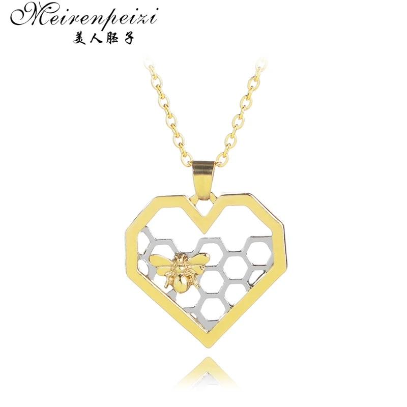 Honeycomb Necklace Beekeeper Jewelry