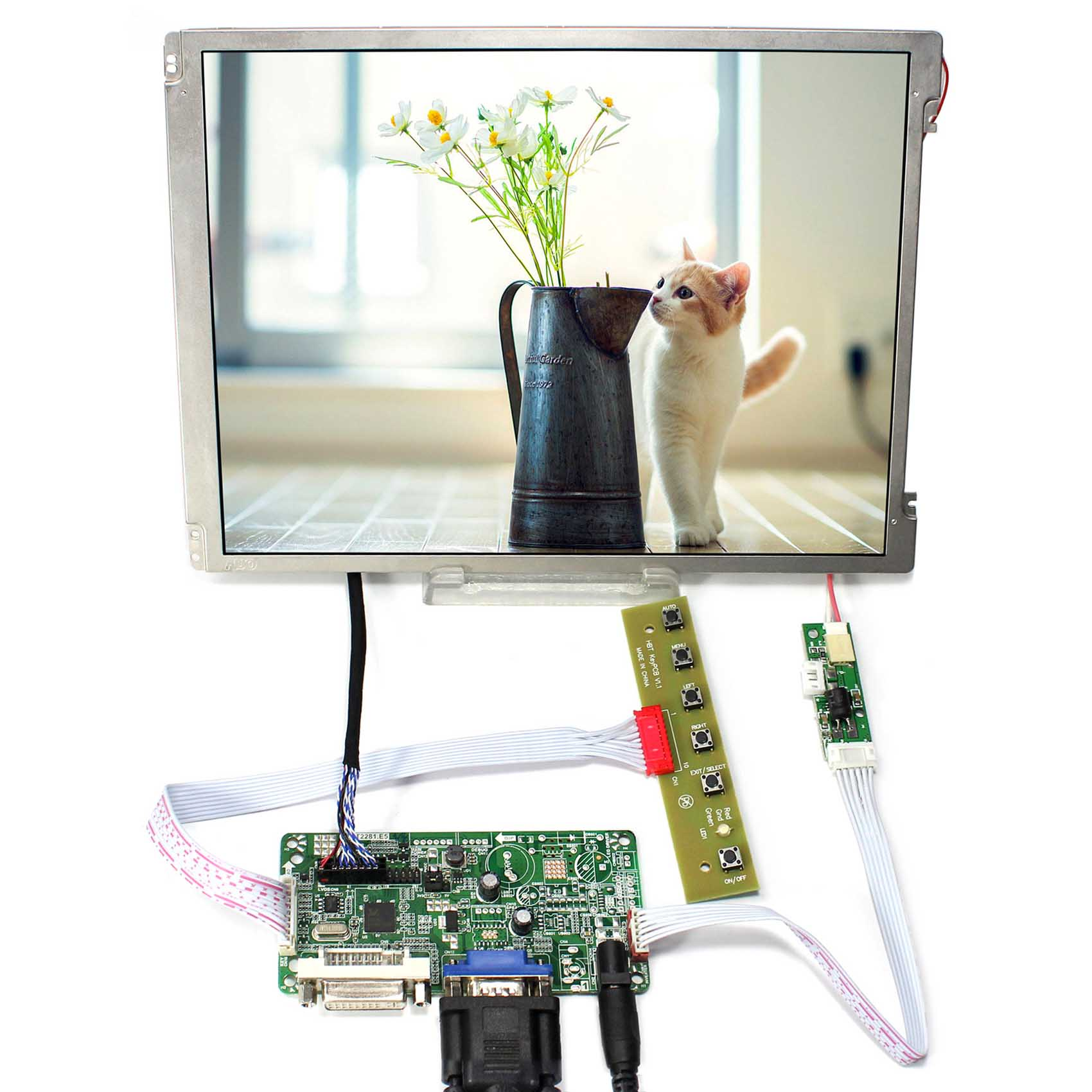 все цены на DVI+VGA LCD Driver Board 10.4inch 800x600 LCD Screen Replace G104SN03-V1 онлайн