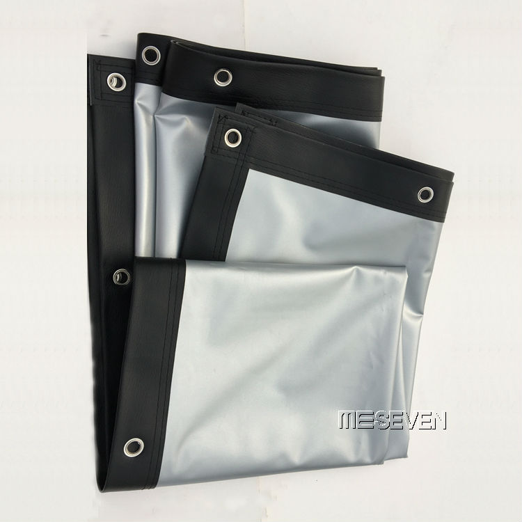 "250/"" 16:9 Outdoor White Fabric Eyelets Frame Projection Screens for 3D Projector"