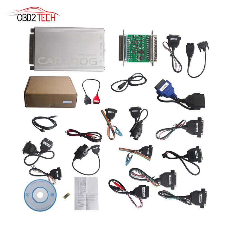 V10.05 / V8.21 Carprog Full Adapters Car Prog 8.21 Online Programmer For Airbag/Radio/Dash/IMMO/ECU Auto Repair Tool