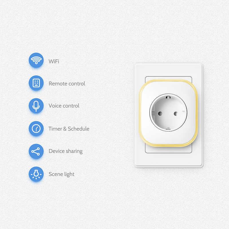 Lonsonho USB inteligentna wtyczka inteligentne gniazdo WiFi ue w wielkiej brytanii wylot współpracuje z Google domu Mini asystenta Alexa IFTTT inteligentnego życia aplikacji