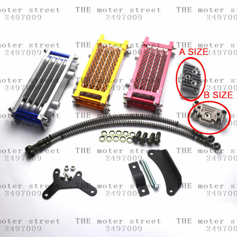 free shipping Motorcycle Oil Cooling Cooler Radiator for Pit Dirt Bike ATV Quad 50 70 90 110CC Pitpro Pitster Pro SDG DHZ SSR