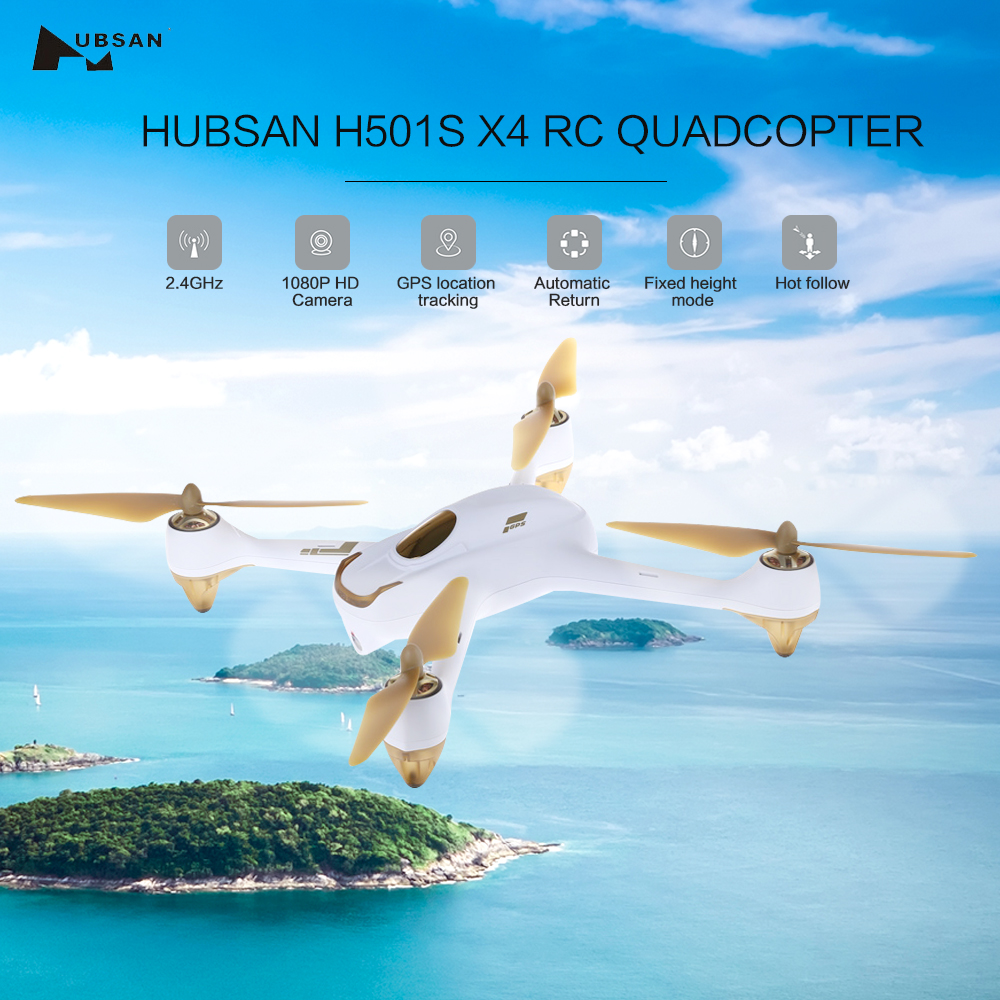 Hubsan H501S X4 RC Quadcopter 2.4GHz 6 Axis Gyro 10CH 5.8G FPV Drones Brushless 1080P HD Camera GPS Drone Dron Follow Me Mode rc drone hd camera 2 4g 6 axis gyro remote control s9 s8 aircraft helicopter drones white black dron vs xs809w