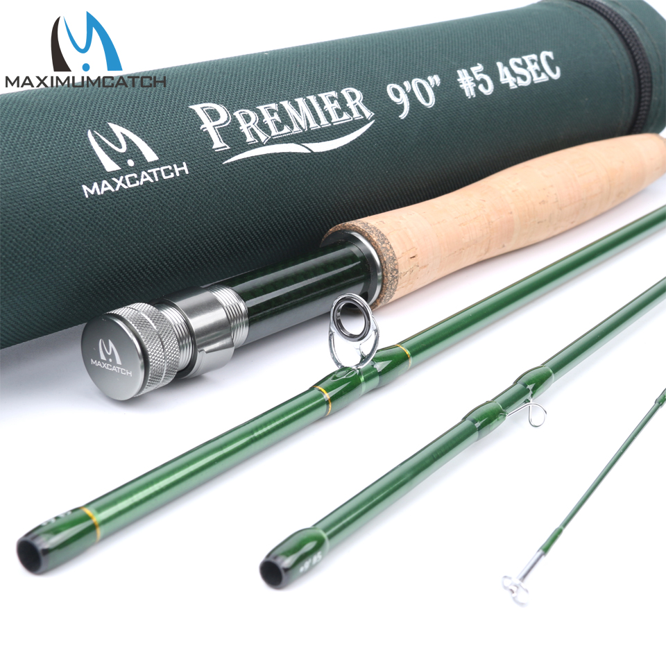 Maximumcatch 3/4/5/6/7/8/9/10/12 WT Carbon Fiber Fast Action Fly Fishing Rod