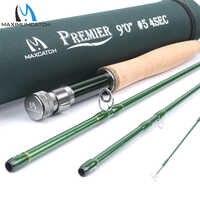 Maximumcatch 3/4/5/6/7/8/9/10/12 WT mosca Rod fibra de carbono acción rápida mosca caña de pescar con tubo Cordura mosca caña de pescar