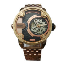 2016 fashion brand new dual display Male mechanical watches Large Dial Stainless steel rose gold men