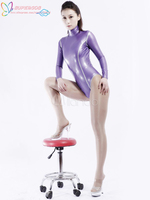High Quality Halloween Carnival Party Stylish Purple Unisex Shaping Latex Catsuit Zentai Suit