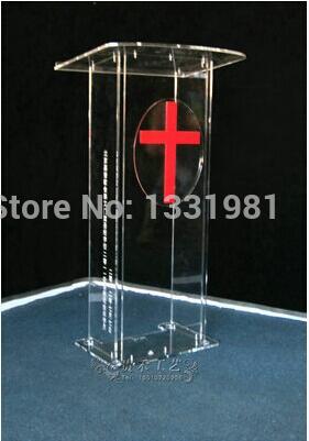 Free Shipping acrylic lectern plexiglass pulpit perspex rostrum acrylic desktop lectern cheap acrylic lectern|Reception Desks| |  - title=