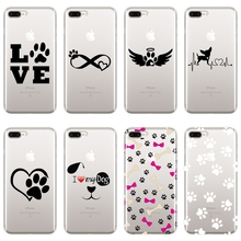 Soft Back Cover For iPhone 6 S 6S 7 8 X XR XS Max Heart Dog
