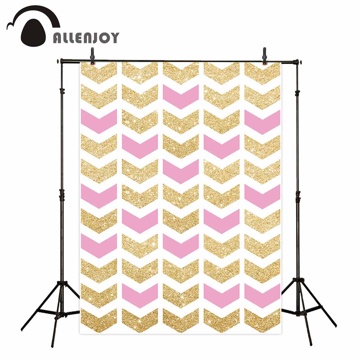 Allenjoy vinyl photographic background Pink golden scales repeat customized new backdrop photocall photo printer customize