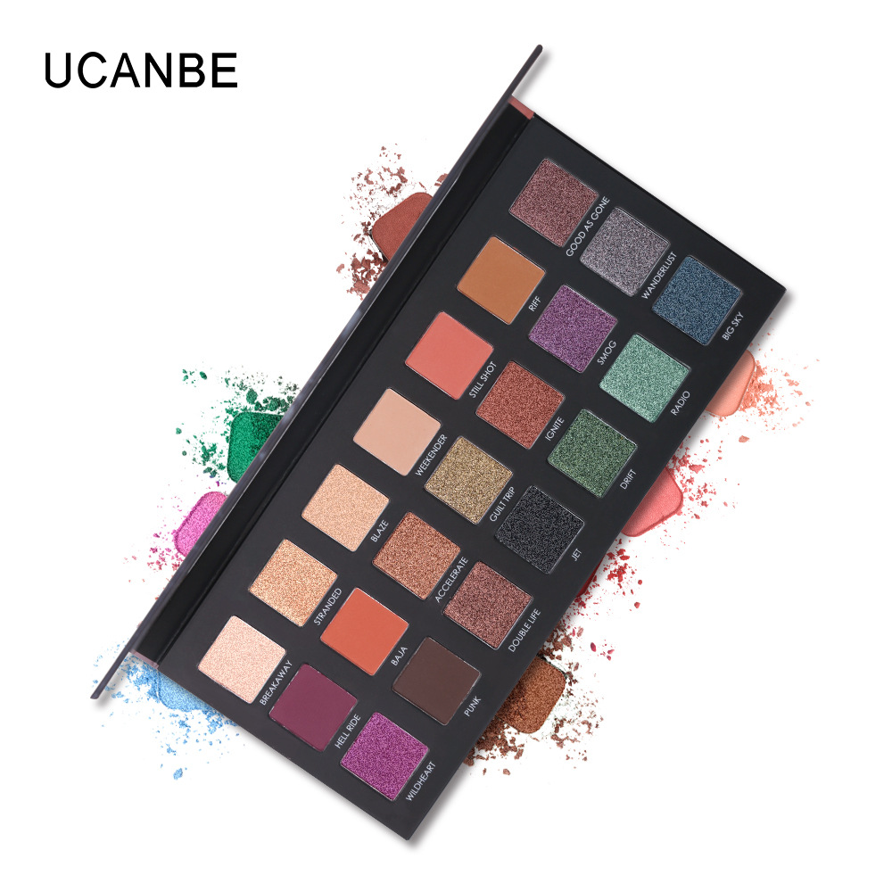Gentle 2018 Beauty Glazed Eyeshadow Palette Makeup Brushes Glitter Metallic 9 Color Nude Creamy Pigmented Eye Shadow Kit Maquillage Attractive And Durable Eye Shadow