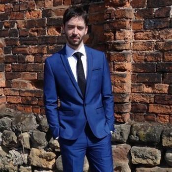 2019 new Latest Coat Pant Designs Blue Classic Slim Fit Men Suit Blazer Modern Outfit Custom 2 Piece Jacket Masculino mens suits