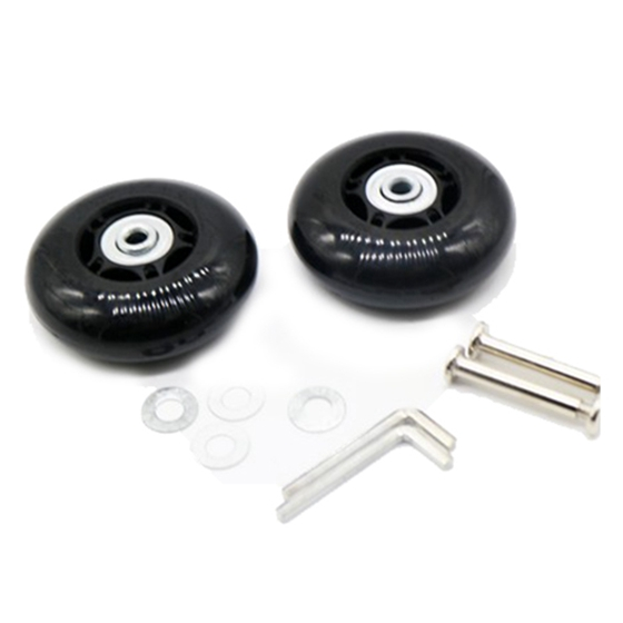 AUTO -2set 70X23mm Luggage Suitcase / Inline Outdoor Skate Replacement Wheels Black