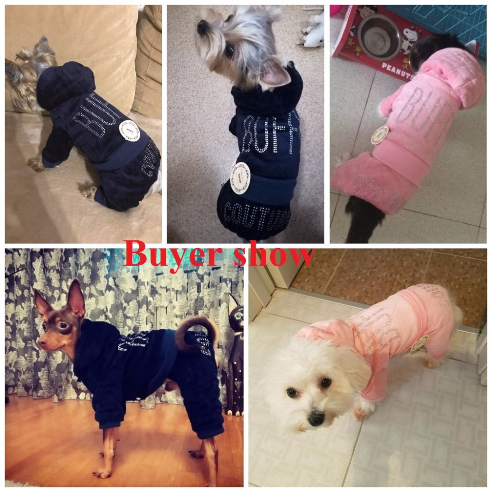 9b3fc31ff9a Petalk Warm Winter Pet Clothes Dog Jumpsuit Rompers Coat For Small Dogs  Thicken Pet Apparel XS XXL-in Jumpsuits   Rompers from Home   Garden on ...