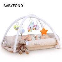 Babyfon кроватки переносная кроватка детская кровать новорожденных кровать детская латекс Кокосовая матрас
