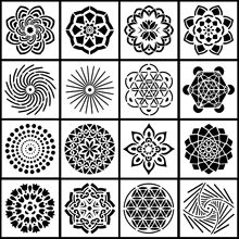 Buy New 16Pcs/Set 13cm Mandala Geometry DIY Layering Stencils Painting Scrapbook Coloring Embossing Album Decorative Template directly from merchant!