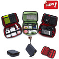 Travel Organizer Storage Collection Bag Case Pouch Digital Gadget Cable Adapter RED INSIDE