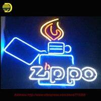 Neon Sign Zippoo Neon Bulbs Flams Flashlight Night Light Tabacaria Advertise Decorate Room LOGO Beer Bar