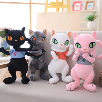 30cm/40cm Stuffed Simulation Cats Plush Cats Active joint Lovely Toy Plush Animal Toy Children Kids Birthday Christmas Gifts cute sharpei with hat plush toy stuffed puppy cosplay pet toy plush animal toy children kids birthday christmas gifts