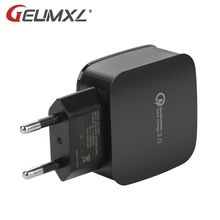 GEUMXL 5V 3A Smart Travel Quick Charge 3.0 Dual USB Charger Adapter Wall Portable EU/US Plug for iPhone Samsung Xiaomi Tablet