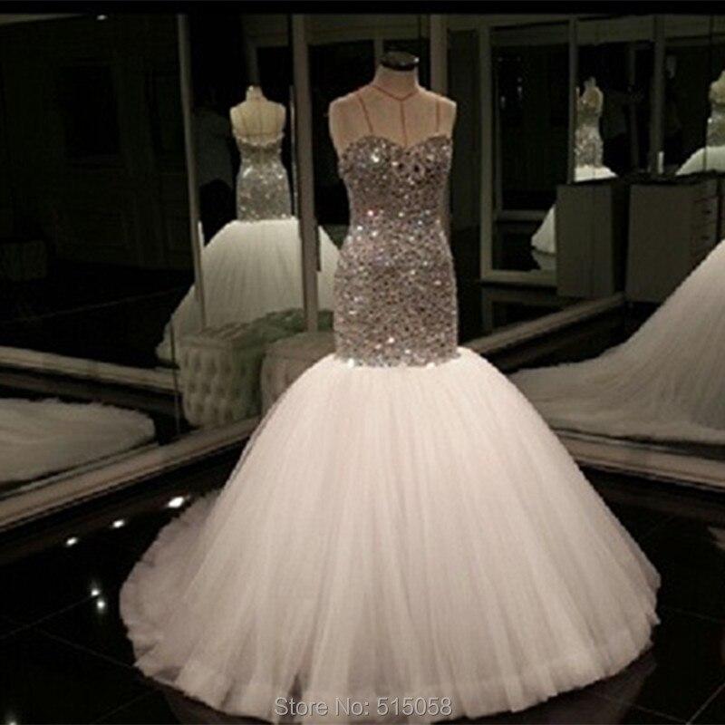 Popular Plus Size Bling Mermaid Wedding Dress-Buy Cheap Plus Size ...