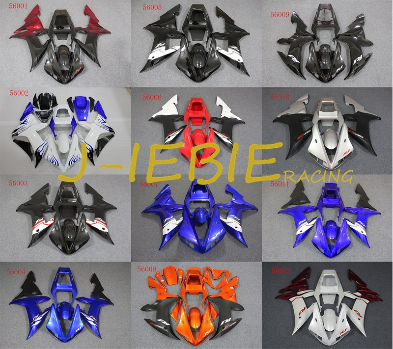 ABS Injection Fairing Body Work Frame Kit for Yamaha YZF 1000 R1 2002 2003
