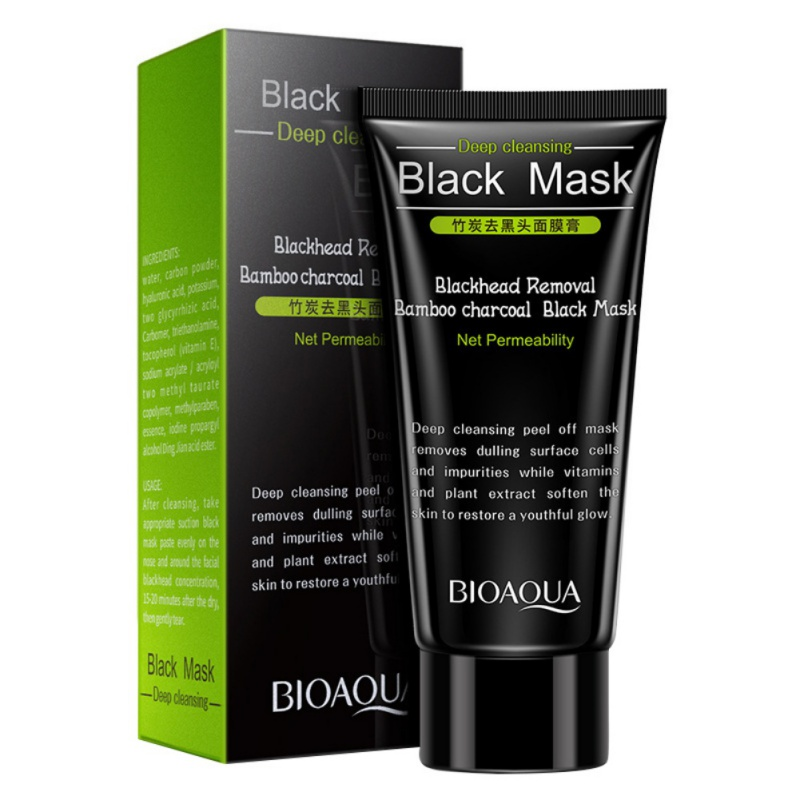 Black Head Remove Shrink Pores Natural Bamboo Charcoal Mask Blackhead Purifying Peel Off Face Black Mask Комедон