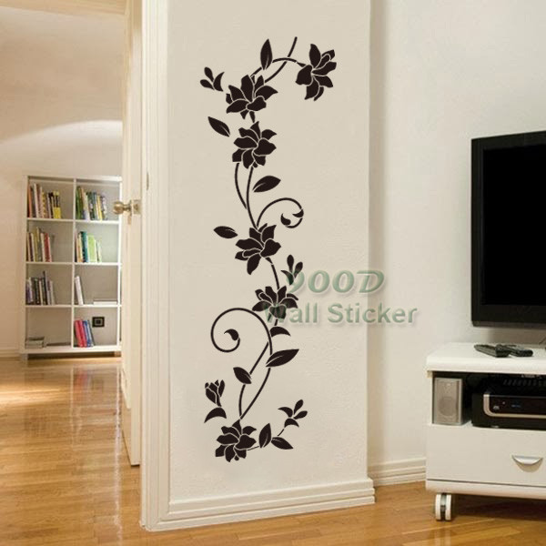 Flower Vine Wall Sticker Diy Home Decoration Removable Wall Decor Wall Art Decals Dq14014 In