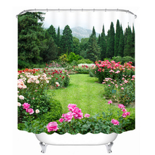 Floral Pattern 3D Shower Curtain Polyester Fabric Waterproof Shower Curtain Eco-Friendly Bathroom Curtain Home waterproof floral tree of life shower curtain