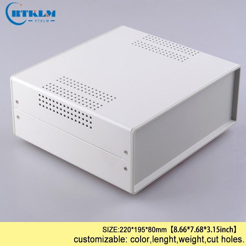 DIY eisen elektrische instrumente box Eisen metall gehäuse für elektronik junction box 220*195*80mm gehäuse projekt control box