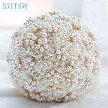BRITNRY New Arrival Luxury Pearls Wedding Bouquet Handmade High Quality Wedding Bouquet For Brides