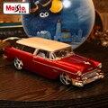 Maisto1: 18 Modelos de Chevrolet 1955 sin hogar aleación coche modelos de fábrica