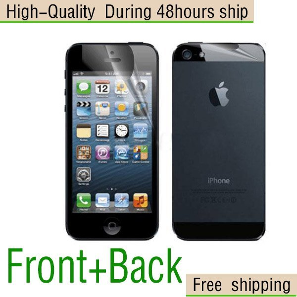 New Screen Protector front+back For Apple iphone 5 5G 5th Free Shipping