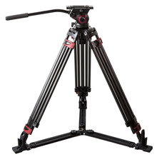 miliboo Portable tripod MTT609B Carbon fiber lightweight professional video camcorder Tripod VS manfrotto tripod Heavy duty