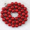 Горячие продажи искусственных красный коралл полудрагоценный камень джаспер круглые бусины 8,10, 12,14 мм моды изготовления ювелирных изделий ожерелье 18 инче B1015