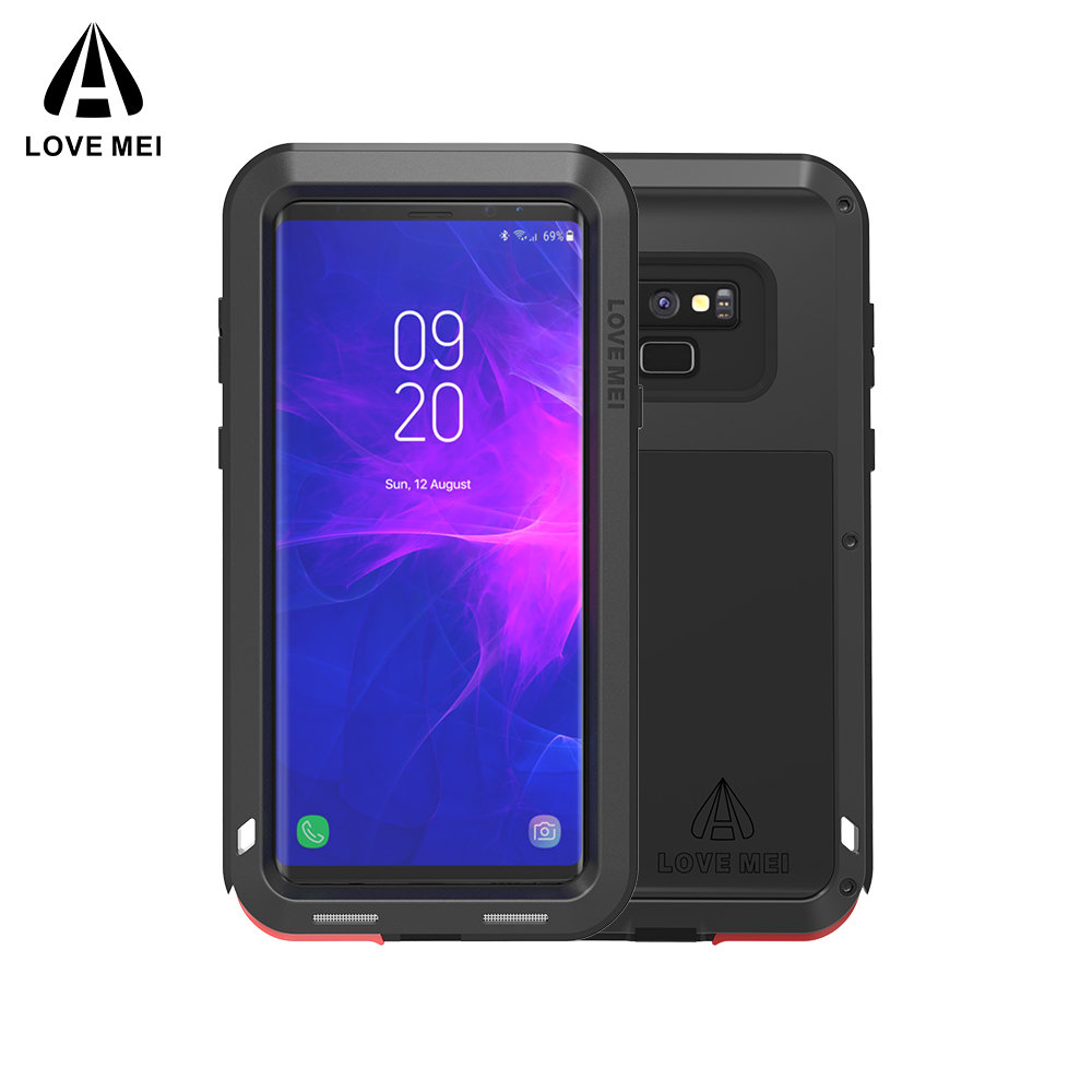 Étui pour samsung Galaxy Note 8 9 3 LOVE MEI Puissant En Métal Antichoc En Aluminium Téléphone étui pour samsung Note 9 4/Bord/FE