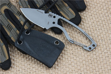 All Steel Usa Neck Knives Camping Knife Survival Pocket Knives Hunting Rescue Knife with K sheath Outdoor  EDC tools
