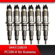 цена на Diesel Injectors 0 445 120 059 Common Rail Jet 0445120059 6754-11-3011 for KOMATSU PC200-8 Cummins QSB6,7 and CDC