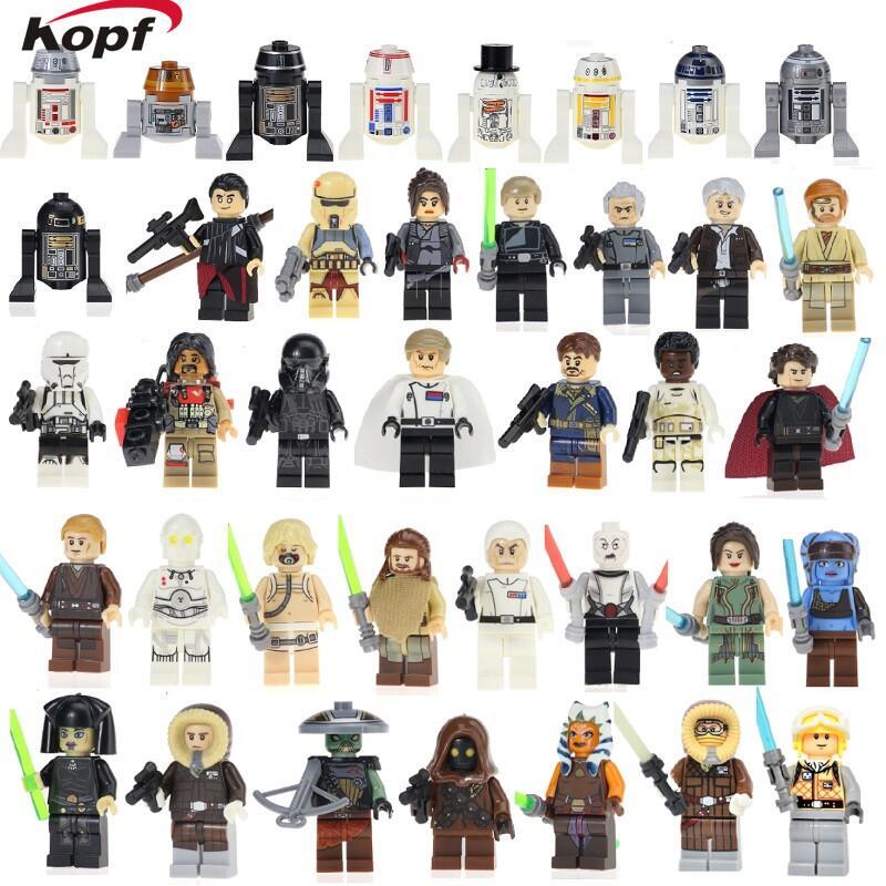 Star Wars Finn Stormtrooper Even Piell Princess Leia Anakin Han Solo Luke Skywalker Grand Moff Tarkin Building Blocks Kids Toys