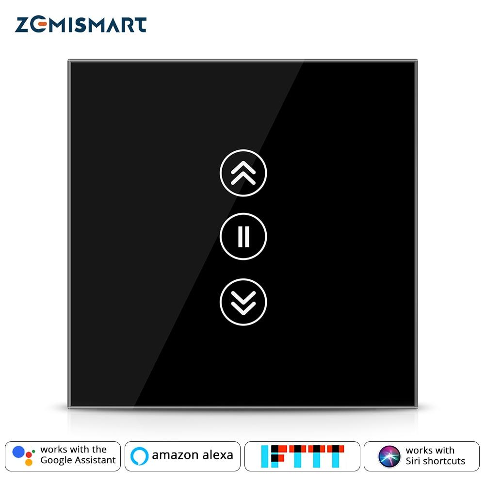 Zemismart Smart Switch For Electric Blind Curtian Alexa Echo Google Home WiFi Interruptor Touch Control 110V 220V