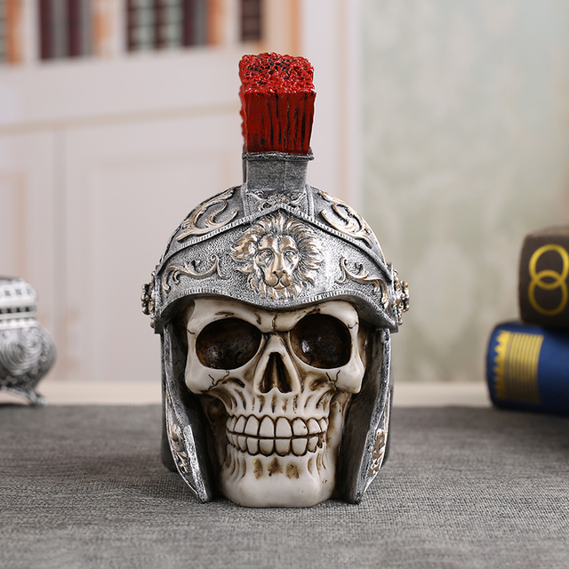 High Quality Resin Skull Soldier Handicrafts Personalized Ornaments